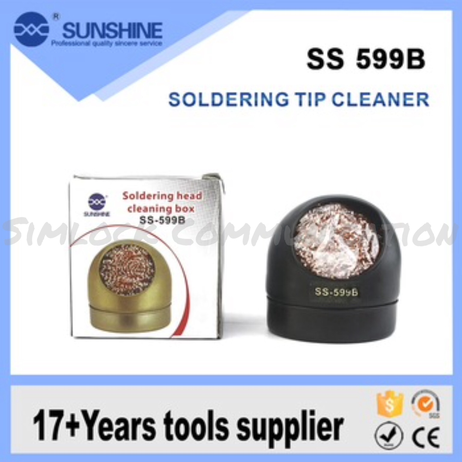 Soldering Iron Stand With Tip Cleaner
